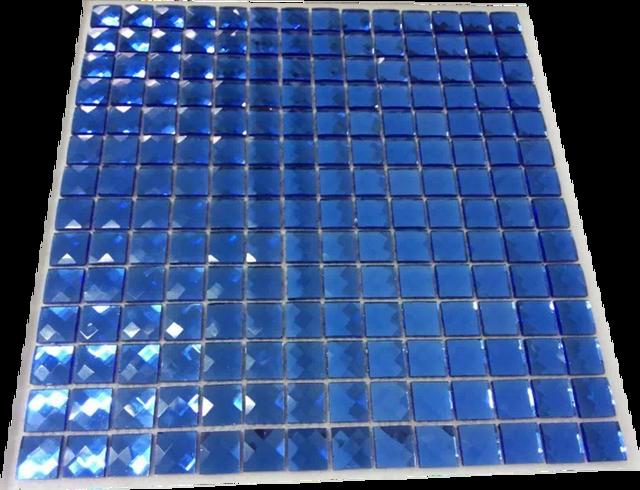 Blau 13 Kanten Diamant Kristall Glas Spiegel Mosaik Fliesen Fur Wand