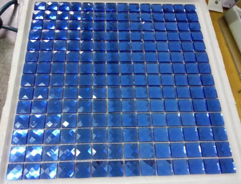 Blu 13 bordi diamante di cristallo specchio di vetro mosaico per la parete vetrina celing fai da - Specchio diamond riflessi prezzo ...