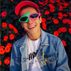 Детские игрушки шляпа хип-хоп Рой пёрди стиль асимметричные солнцезащитные очки Новинка Зеленый Розовый контрастные цвета Детские