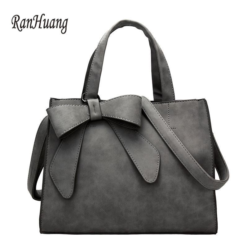 ФОТО RanHuang Women Fashion Handbags Bow Designer Handbags Ladies Black Shoulder Bags Briefcase Messenger Bags bolsa feminina A345