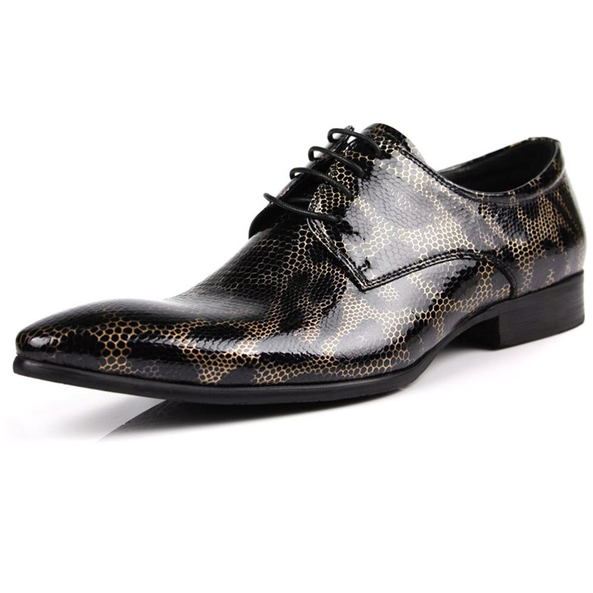 business formal shoes lace up rubber non slip leather