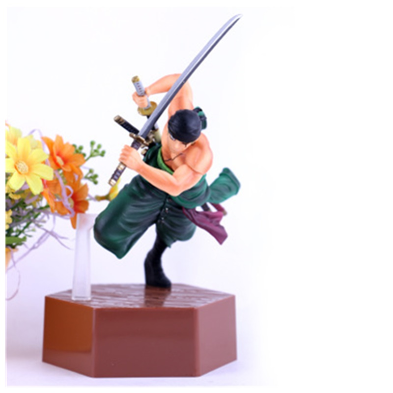 17CM One Piece Roronoa Zoro Toy PVC Anime Figure Roronoa Zoro  Decoration Model Action Figures Doll Kids Gift Z10717CM One Piece Roronoa Zoro Toy PVC Anime Figure Roronoa Zoro  Decoration Model Action Figures Doll Kids Gift Z107