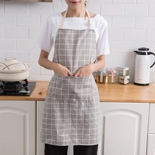 Long fashion men's and women's waist skirt with pocket catering chef waiter bar kitchen apron catering business