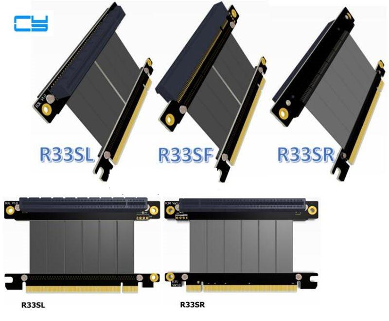 Elbow Design Gen3.0 PCI-E x16 To x16 3.0 Riser card extension Cable 5cm 20cm 30cm 40cm PCI-Express pcie 16x Extender Right Angle riser gen3 0 pci e pcie x8 to pcie x16 graphics card extension riser ribbon cable elbow design 64g bps pci express 8x 16x