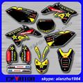 HIGH PERFORMANCE RMZ 250 07 08 09 ROCKSTAR 3M TEAM GRAPHICS BACKGROUND DECALS STICKERS SETS MOTOCROSS RACING