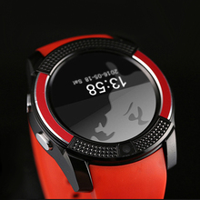 Check Discount V8 Bluetooth smart watch 1.22 inch round screen support SIM / TF card camera SmartWatch for Samsung Huawei Android smartphone