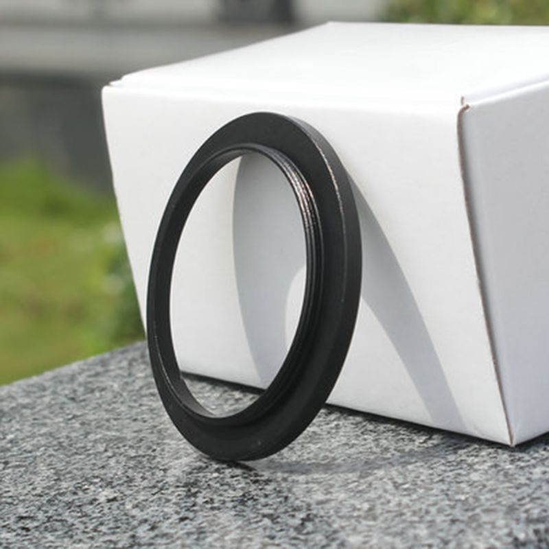 Black Durable Aluminum Alloy <font><b>M48</b></font> to M42 Coupling <font><b>Adapter</b></font> Ring for Stereo Microscope Eyepiece Filter Accessories image