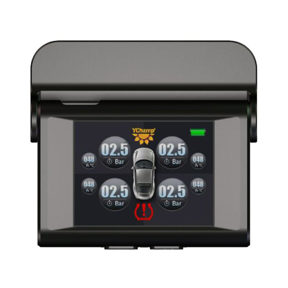 Universal Car TPMS LT-368 Solar Power Pressure Monitoring System 2.4 LCD TPMS Gauge Diagnostic Tool Tire Pressure Alarm original autel maxitpms ts501 with obd2 adapters tpms diagnostic
