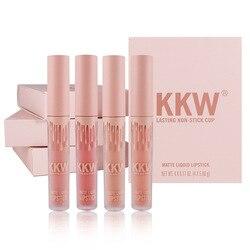 4PCS/SET Kyliejenner Lipstick Set Liquid Matte Lipstick Waterproof Kilie Lipgloss Set Kit Lipgloss Matte Kyliejenner Cosmetics
