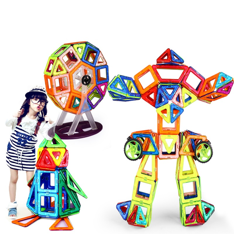 240PCS Pure Magnetic Designers Construction Building Blocks Toys DIY 3D designer Learning Educational Bricks Kids Toys