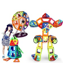 240PCS Pure Magnetic Designers Construction Building Blocks Toys DIY 3D & designer Learning Educational Bricks Kids Toys