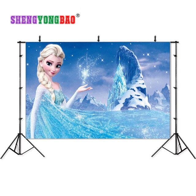 SHENGYONGBAO Art Cloth Custom Cartoon Photography Backdrops Prop Frozen theme Photo Studio Background BXC-1015