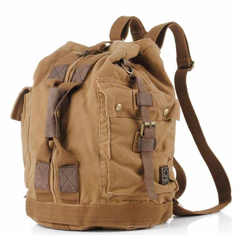 High Quality Men Backpack Zipper Solid Men's Travel BagsBackpacks Canvas Bag mochila masculina bolsa school bags