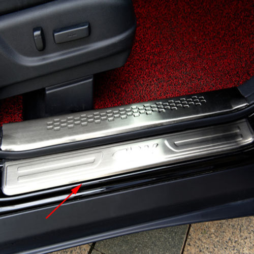 4PCS For Honda CRV CR-V 12-15 Stainless Outer Side Door Sill Guards Scuff Plate