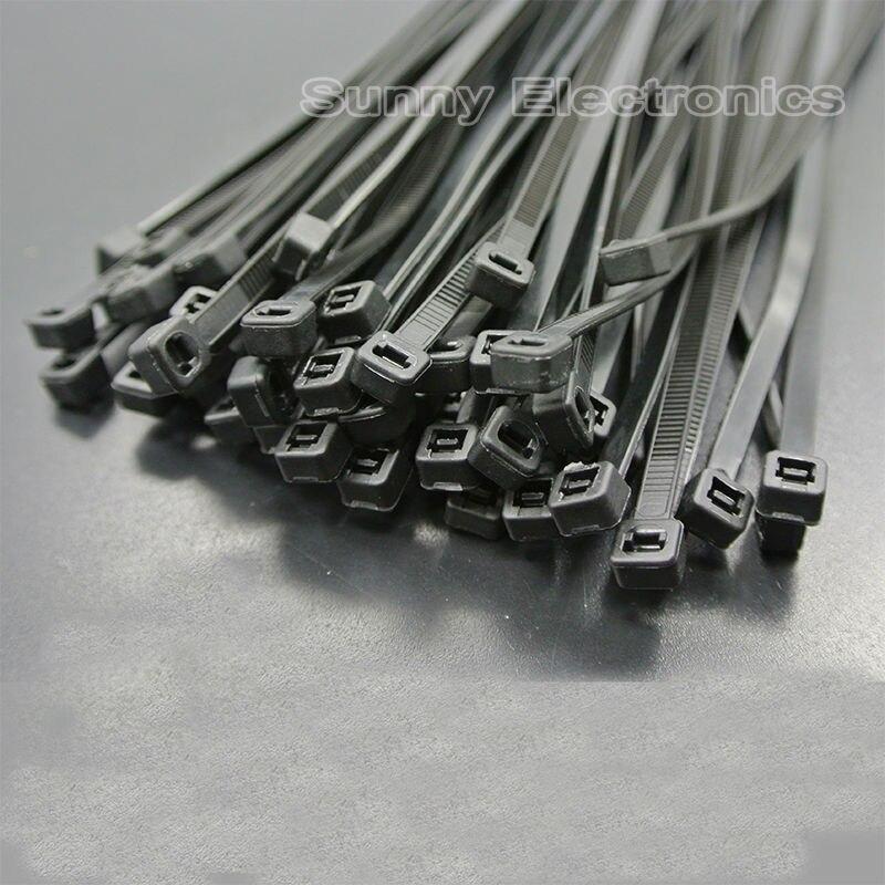 50pcs black 4x250mm(10 inch) 10