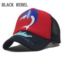 d1334ff50aa Black Rebel Summer Mesh Baseball Cap 3-10year Kids Snapback Children Trucker  Hat For Girl Boy Casual Casquette baby hats
