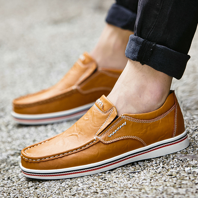Men's Multicolor Leather Shoes