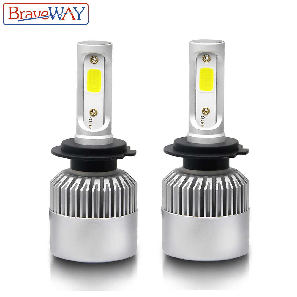 BraveWay H4 Led Light Headlight Lamps 6500K H7 H4 H1 H8 H11 H13 9005 9006 HB4 Car Light H7 Car Led Light Bulb H3 Fog Light