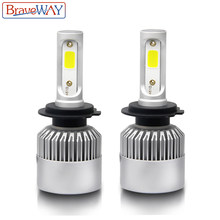 BraveWay H4 Led Light Headlight Lamps 6500K H7 H4 H1 H8 H11 H13 9005 9006 HB4 Car Light H7 Car Led Light Bulb H3 Fog Light(China)