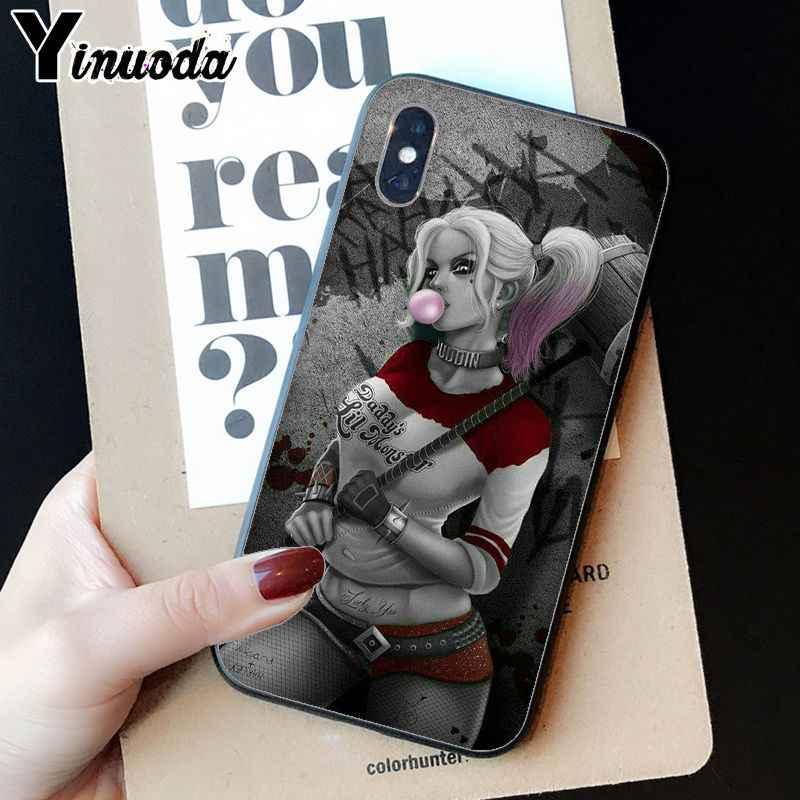 Yinuoda 自殺分隊ハーレークインジョーカー映画ノベルティ Fundas 電話ケースカバー iphone 5 5Sx 6 7 7 プラス 8 8 プラス X XS 最大 XR