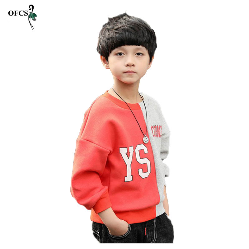 OFCS New Baby Sweater Long Sleeve T-shirt O Neck Thick Warm Jumper Knitted Sweater Spring Autumn Children Letter Clothes 3-15T