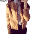 2017 Spring Autumn Preppy Style Female New Women's Knitwear O-Neck Sweater Pure Loose Sweater Cardigan Sweater Coat Lady 60819