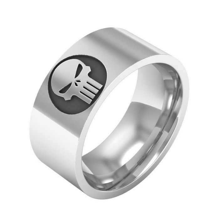 2018 новые европейские ювелирные изделия из Америки Каратель символ кольцо с изображением Знака Доллара Титановая Сталь модные мужские ювелирные изделия принимаем Прямая доставка YP3794