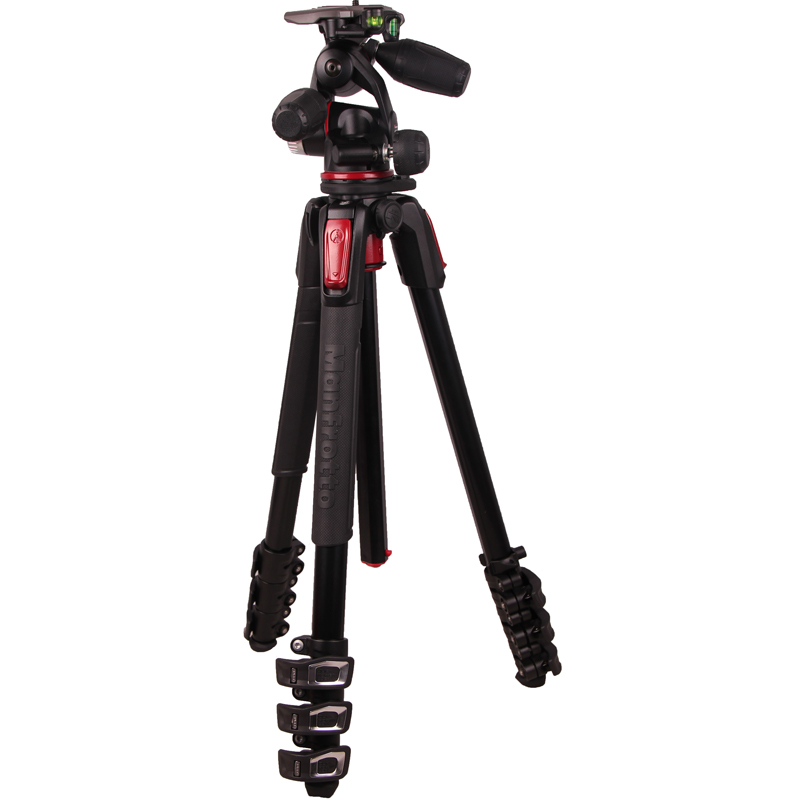 Manfrotto MK190XPRO4-3W Professional Tripod Portable Mobile Camera Tripod For SLR Ball Head Monopod Changeable Load Bearing 6KG qzsd q999 portable tripod for slr camera tripod ball head monopod changeable load bearing 18kg