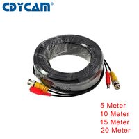 CDYCAM CCTV Camera Accessories BNC Video Power Siamese Cable For Surveillance DVR Kit Length 5m 10m