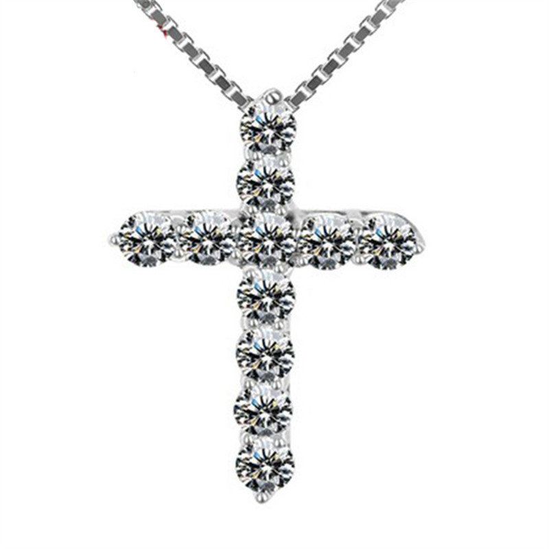 Crystals from swarovski cross necklaces allergy prevention zircon crystals from swarovski cross necklaces allergy prevention zircon cross necklace pendant christian jesus jewelry for women gift in pendant necklaces from aloadofball Choice Image