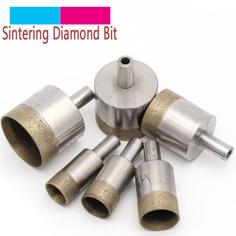 2Pcs Shank Cone Sintered Diamond Drill Bits Hole Saw Set 4-20mm for Glass Tile