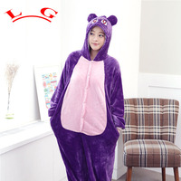 L G Winter Unisex All In One Pajamas Homewear Pajama Flannel Halloween Costumes Pajama Sets Purple