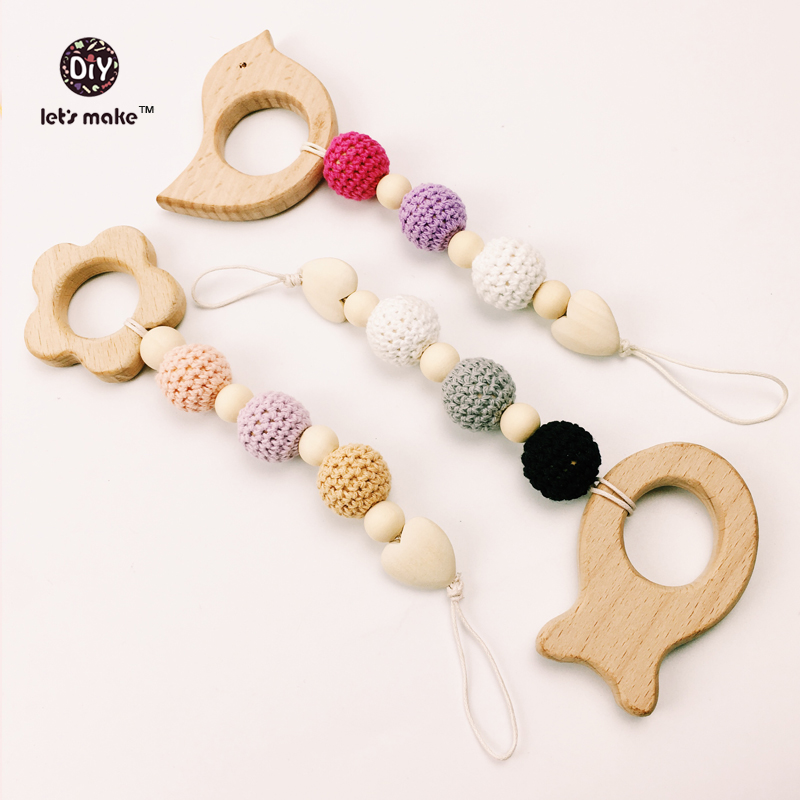 Lets make Teething toy, baby toys,bird beads  Fish Beads Gift Boy Wooden toy Blue lets make