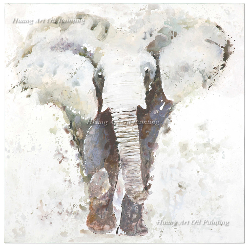 Wholesale Hand Painted Elephant Oil Painting on Canvas Paintings for ...