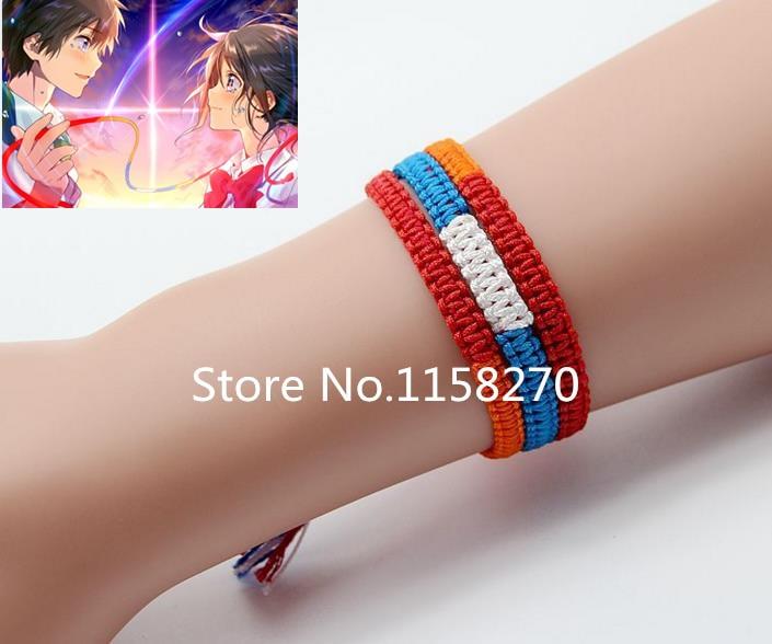 Kimi No Na Wa Your Name Mitsuha Miyamizu Taki Tachibana Cosplay Rope Bracelet On Aliexpress Alibaba Group