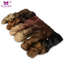 Dye synthetic hair extensions online shopping the world largest neverland wavy curly synthetic hair extension 16 clips 20 7pcsset ombre color dip pmusecretfo Gallery