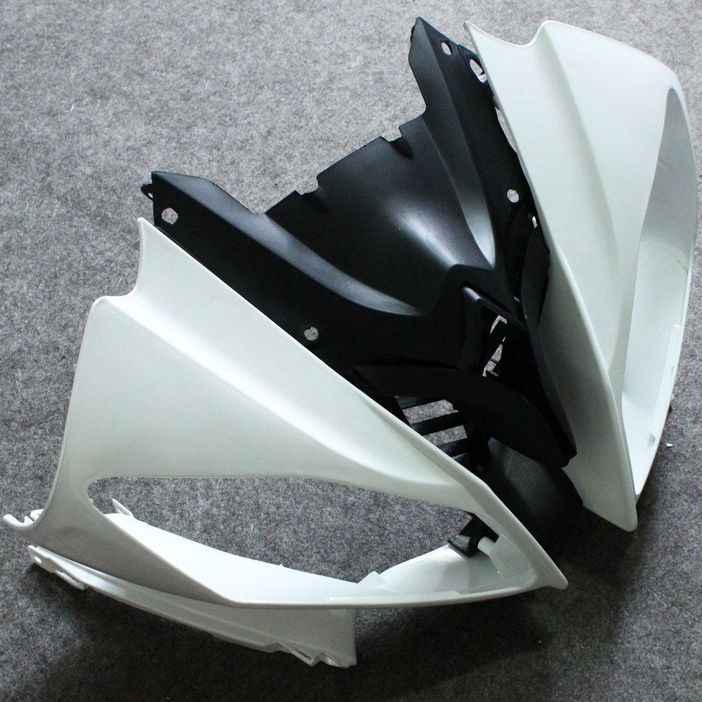 06 07 For Yamaha YZF R6 Motorcycle Front Upper Nose Top Cowling Bodywork Individual ABS Fairing Unpainted YZFR6 YZF-R6 2006 2007