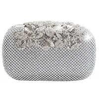 Fermoir Unique argent Diamante cristal diamant sac de soirée pochette sac à main fête de mariée bal