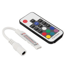 SDFC 1Pc Mini RF Wireless Led Remote Controller Led Dimmer Controller For Single Color Light Strip SMD5050/3528/5730/5630/3014