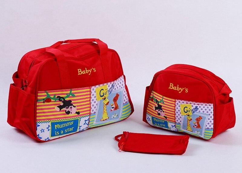 MOTOHOOD 4pcs Baby Diaper Bag Sets For Mom Cute Animal Baby Stroller Bag Organizer Fashion Maternity Bags Handbags For Moms (4)