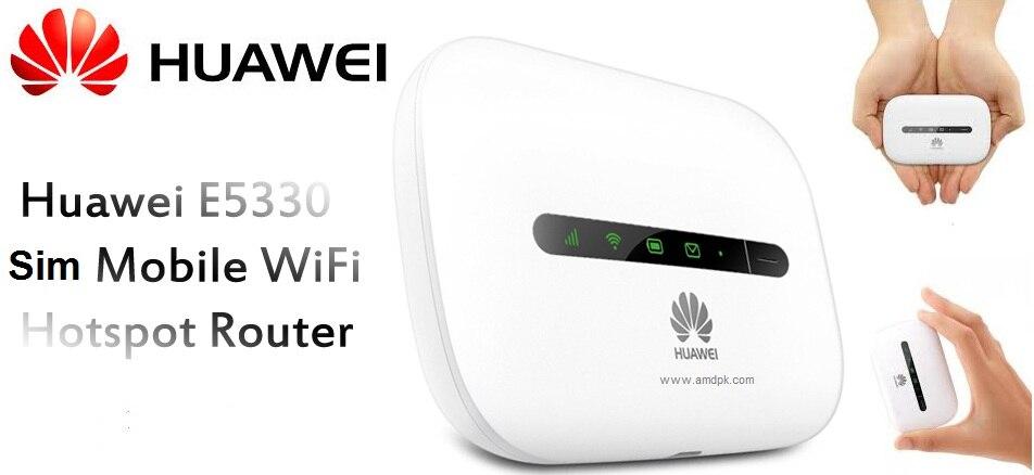 Débloqué Huawei E5330 Mobile WiFi blanc MiFi Hotspot 3G HSPA + Modem
