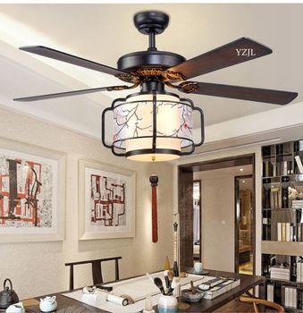 Pilot zdalnego contntrol żyrandol podsufitowy wentylator wentylator z lampą światła żyrandol podsufitowy chiński salon oświetlenie sypialni wentylator