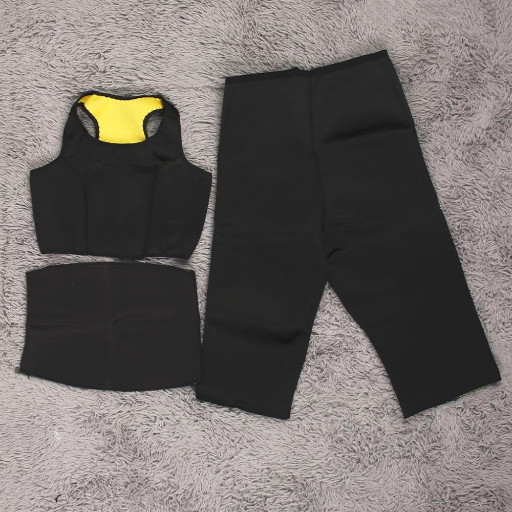 Women s yoga sets sport suit workout clothes female fitness sports -  Pants Vest Waistband Shapers Yoga Sets Women Gym Stretch Neoprene Fitness Sports