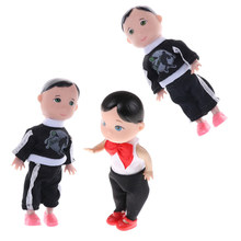 1 pcs fashion Cute Baby Boy Son Dolls Super Small Toys Boy Son Dolls For 10Cm(China)
