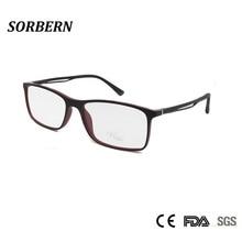 SORBERN TR90 Ultralight Optical Eyeglasses Frames Men Square Eyewear Frame Vintage Nerd Glasses Armacao De Oculos Masculino