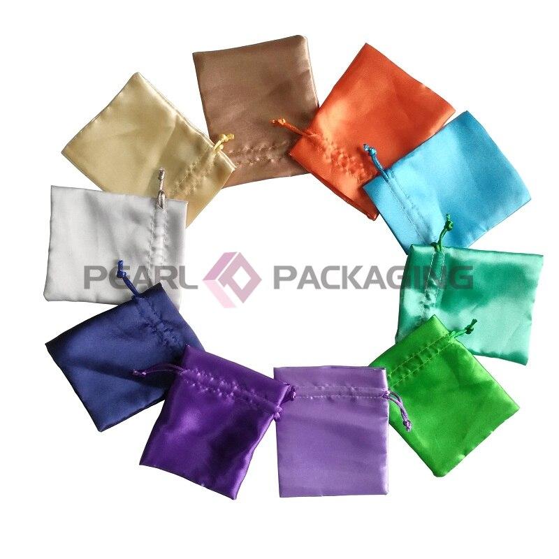 100 pièces sac en Satin 13x17 cm sac en Satin, pour faveurs de mariage, emballage cadeau de fête, emballage de produit personnel livraison gratuite