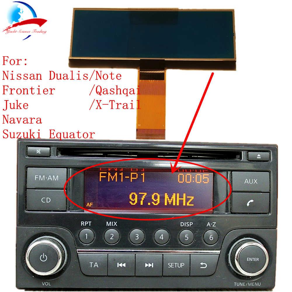 Car Radio CD Player LCD Screen Display Pixel Repair For Nissan Qashqai  X-Trail Frontier Note Juke Dualis Navara Suzuki Equator