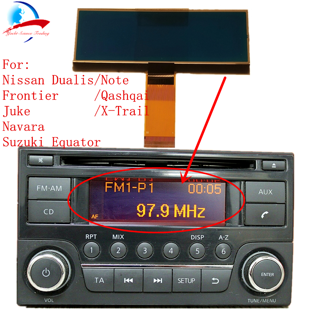 hight resolution of car radio cd player lcd screen display pixel repair for nissan qashqai x trail frontier