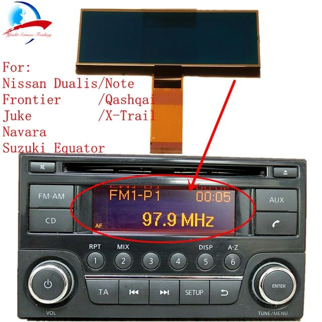 Reproductor de CD de Radio para coche pantalla LCD Reparación de píxeles para Nissan Qashqai x-trail Frontier Note Juke Dualis Navara suzuki Ecuador