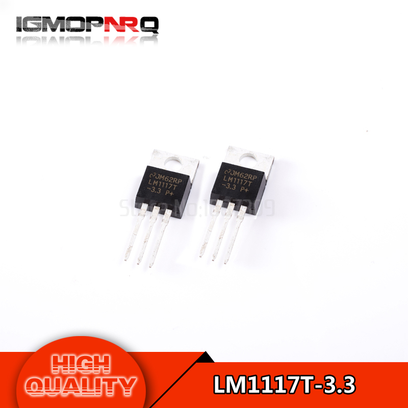 Free shipping 20pcs/lot LM1117T-3.3 p low dropout voltage regulator LM1117 + 3.3V DIP TO-220 new original